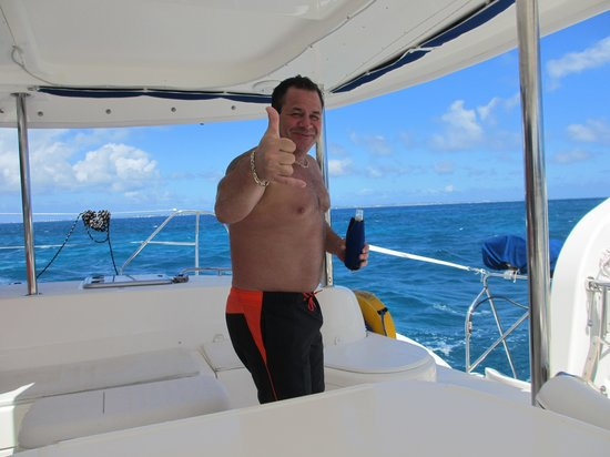Private Yacht Charter SXM: Thumbs up from Kevin