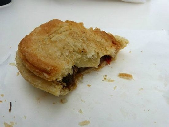 The Bakery Wanaka: Half eaten venison pie