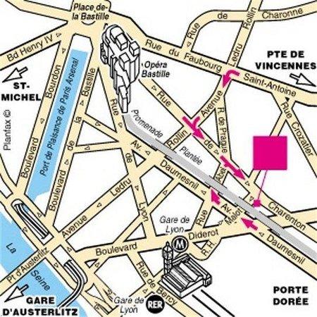 Prince Albert Lyon Bercy : Location Map
