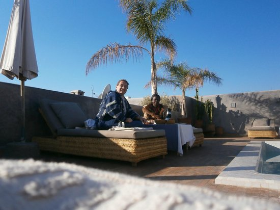 Riad Awa: Petit Déj sur le toit