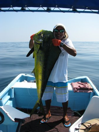 Tino's Sport Fishing & Bay Tours: Tino with big bull from day one