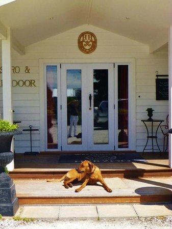 Hans Herzog Estate: front door with dog !