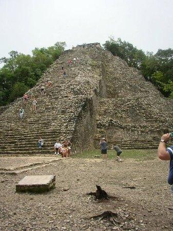 Coba Mayan Traditions: Main Coba pyramid