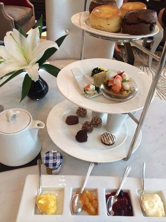 Keraton at The Plaza, a Luxury Collection Hotel: GODIVA Luxury High Tea set