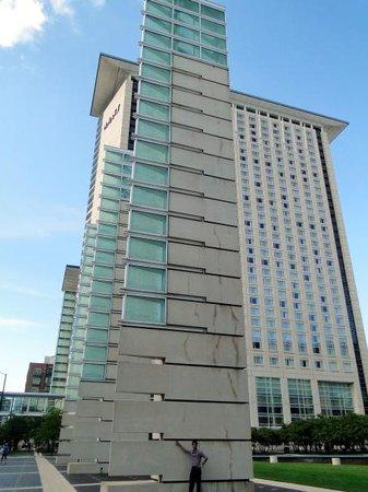 Hyatt Regency McCormick Place: In front of the hotel.