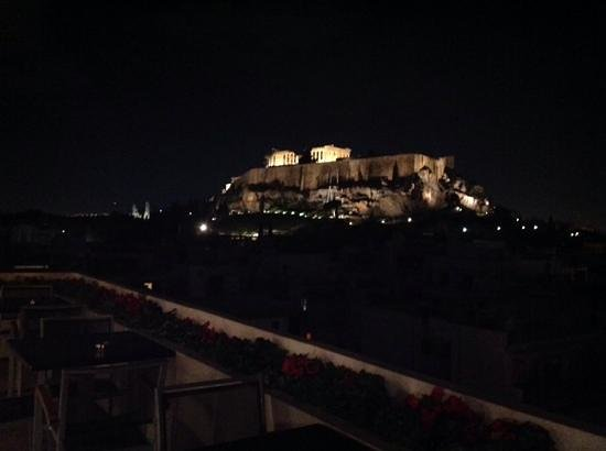 The Athens Gate Restaurant: tavolini con vista panoramica