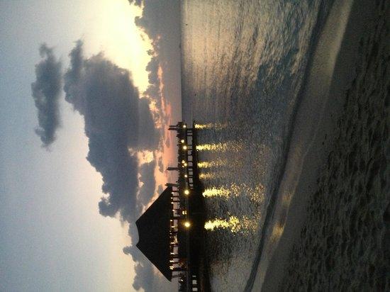 Bandos Maldives : bar coucher de soleil