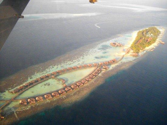 Diamonds Thudufushi : vu de dessus