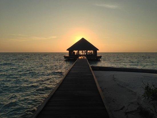 Huvafen Fushi Maldives: Gym at Sunrise