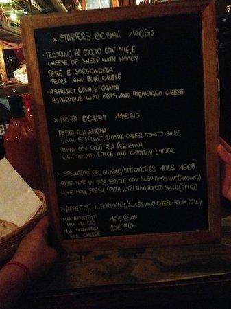 IL Pacioccone: Cute chalk board menu