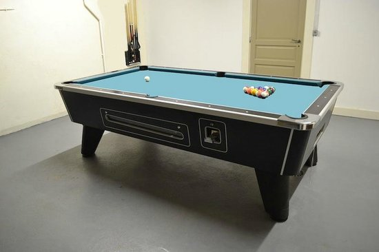 The Nest : Games room with full size American pool table and a dart board