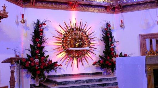 Zakopane, Polonia: tabernakulum w sanktuarium M. B. Fatimskiej