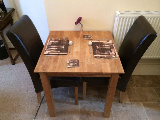 Black Boy Inn : Perfect for romantic meals together, our cute little dining table