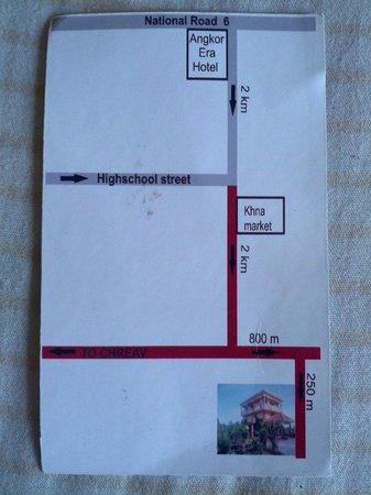 Villa Dani: Route description from Siem Reap
