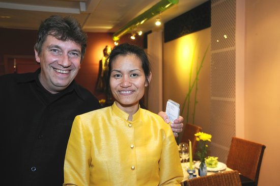 Orchidee Thai Knokke : The owners Chalor and Vincent