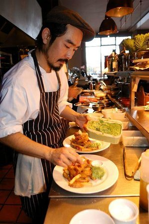The Black Dog Freehouse: OUr head chef - Yoshi Yamakawa