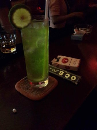 The Rooftop Lounge: Fukushima drink...one of our own famous invented drink.