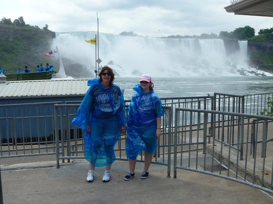 Maid of the Mist: Me and my Mum in front of the falls, wearing what you have to wear.