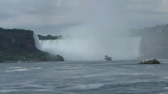 Maid of the Mist: View of the falls from the boat.