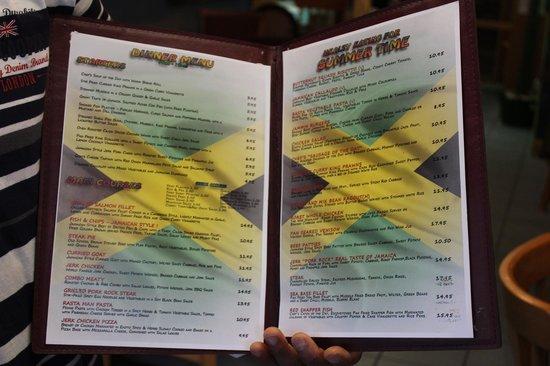 Kool Runnings Inverness: The menu