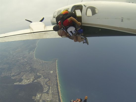 Sunshine Coast Skydivers: Just leaving the plane