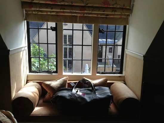 Mallory Court Country House Hotel & Spa: View from bedroom in main house