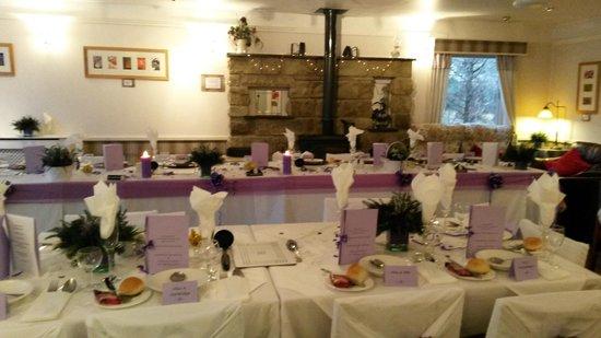Speyside Heather Centre: Wedding reception