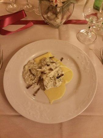 Ristorante Palazzo del Papa: pasta con broccoli, gorgonzola e tartufo