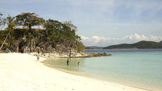 Malcapuya Island: Nice beach