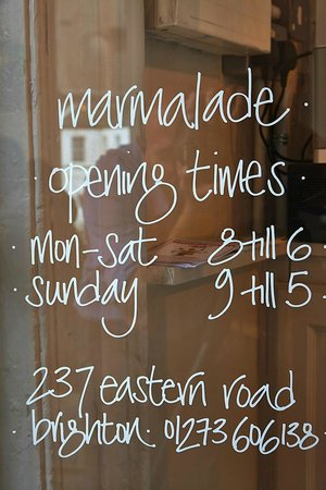 Cafe Marmalade: Opening Times!