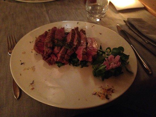 Hotel Astra: This was one lovely fillet cooked in rosemary!