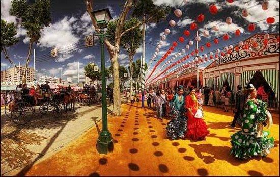 Pension Nuevo Pino: feria de abril  (Seville Fair)
