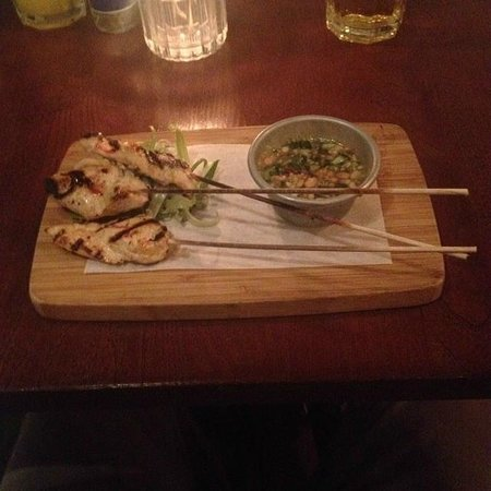 Atina Kitchen : Chicken skewers - The dip was so good Ben almost drank it