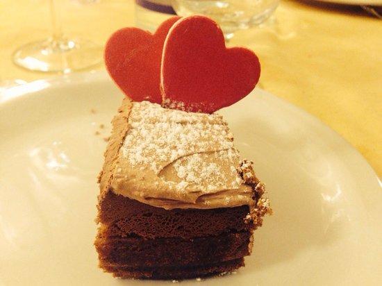 Ristorante Papillon : torta San Valentino 2014