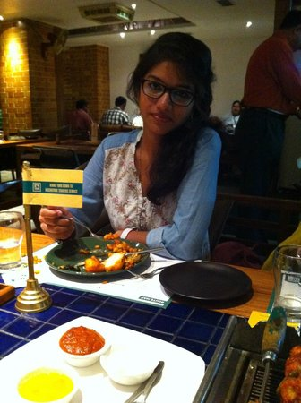 dinner at barbeque nation