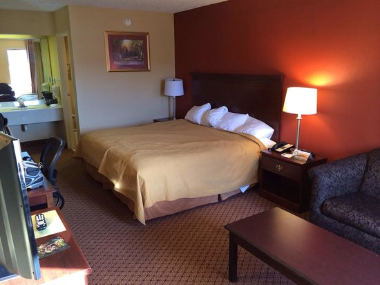 Quality Inn-Gaffney : Decent room with good bed and furniture.