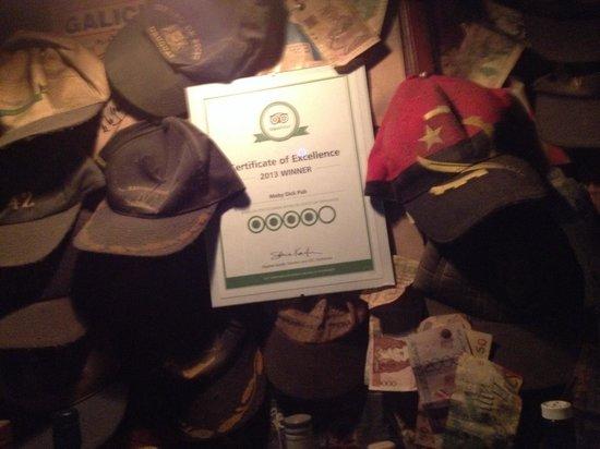 Moby Dick Pub: Certificado