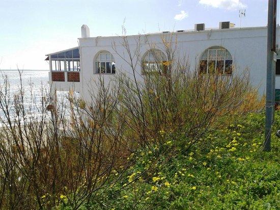 El Trasmallo de Agustino: The terrace overlooking the sea