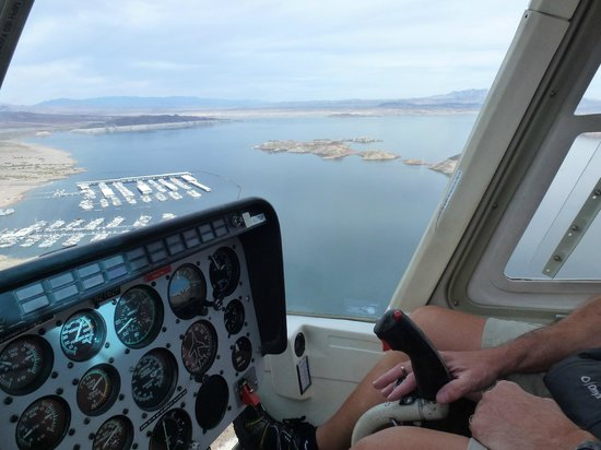 Dam Helicopter Company: View of Lake Mead