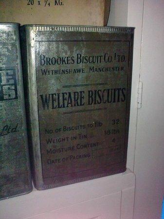 Arnhem War Museum : Biscuit supplies