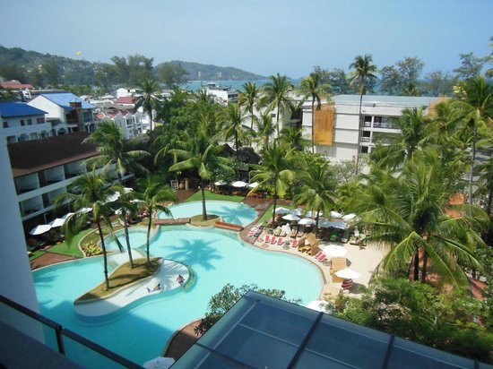 Patong Beach Hotel: A room with a view - how beautiful is that ?!?!