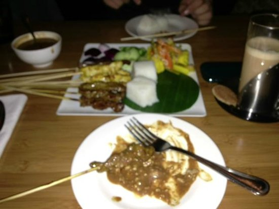 Malaysian restaurant Wau: satay platter