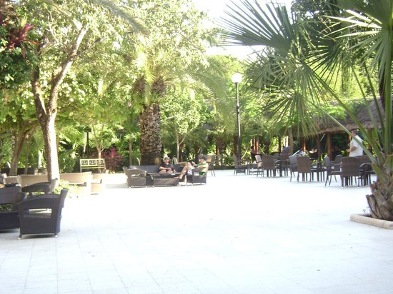 Viva Wyndham Maya: El patio central (lobby al aire libre)