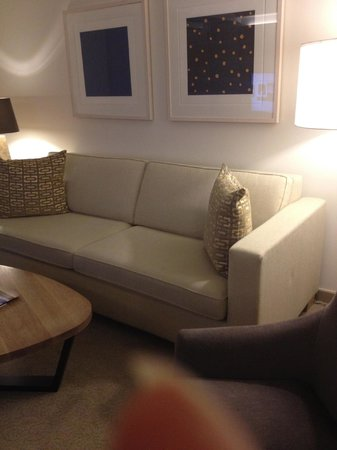 Conrad New York: comfy couch