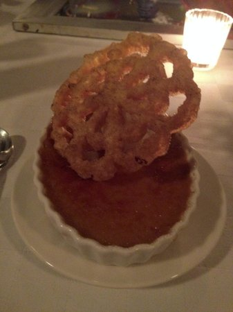 Tuna Blanca : Creme Brulee with huge pastry