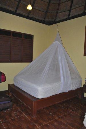 Cabanas Zazilkin: bed in a premium cabana