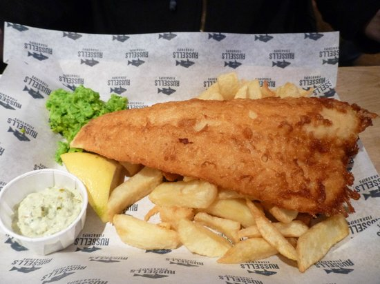 Russell's Fish & Chips: Another yummy piece of fish