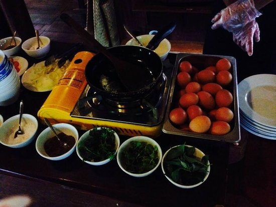Mr. Mab...very delicious : Fresh eggs with Khmer herbs