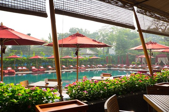 The Sukhothai Bangkok : Pool, as seen from the health food/cafe