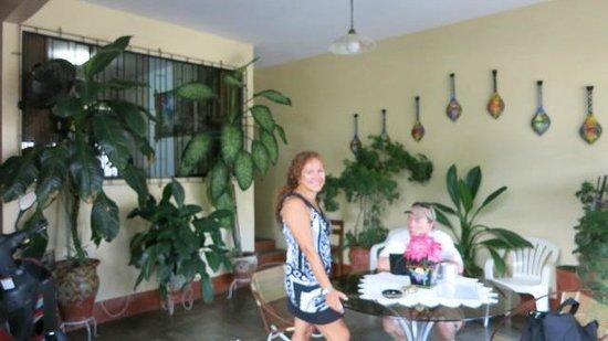 Nativa Apartments : Monica in front patio